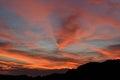 Sunset superstition mountains twilight arizona usa Royalty Free Stock Images