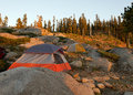Sunset at Sierra Nevadas back country Royalty Free Stock Photo