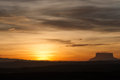 Sunset and tepui at gran sabana venezuela Royalty Free Stock Photography