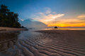Sunset at tioman beach this photo taken near berjaya resort pahang malaysia Royalty Free Stock Image