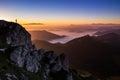 Sunset on top of Velky Rozsutec, Mala Fatra, Slovakia