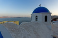 Sunset in town of oia santorini tira island cyclades greece Royalty Free Stock Images