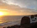 Sunset at the Twelve Apostles Royalty Free Stock Photo