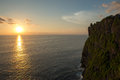 Sunset uluwatu bali temple limestone cliff was built th century one nine directional temples meant to protect bali evil spirits Royalty Free Stock Photo