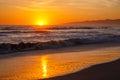 Sunset Venice beach. Royalty Free Stock Photo