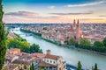 Sunset in Verona, italy Royalty Free Stock Photo
