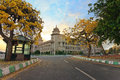 Sunset at vidhana soudha the state legislature building in bangalore india Stock Images