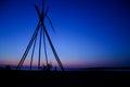 Sunset view at Antiparos island, Greece Royalty Free Stock Photo