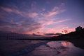 Sunset view of bournemouth beach england Stock Image