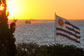 Sunset view from Colonia del Sacramento Royalty Free Stock Photo