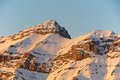 Sunset view of pizzo cefalone peak abruzzo italy in gran sasso national park Royalty Free Stock Photography
