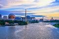Sunset view at Tuanku Mizan Zainal Abidin Mosque Putra Jaya Malaysia Royalty Free Stock Photo