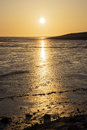 Sunset wadden sea with the north in germany Stock Images