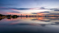 Sunset west lake Hanoi Royalty Free Stock Photo