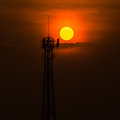 Sunsets light of the sun weaken gradually Royalty Free Stock Image