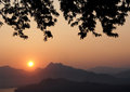 Sunsets view at luangprabang laos Royalty Free Stock Image