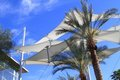 USA, Arizona: Sunshade sails Royalty Free Stock Photo
