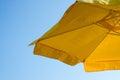 Sunshade yellow and blue sky Royalty Free Stock Image