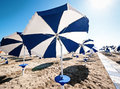 Sunshades beach italy Stock Image