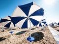 Sunshades beach italy Stock Image