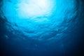 Sunshine above bunaken sulawesi indonesia underwater Royalty Free Stock Photo