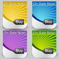 Sunshine Buy Button Set Royalty Free Stock Photo