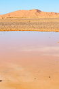 Sunshine in the lake morocco sand and dune desert of Stock Photography