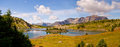 Sunshine meadows rock isle lake looking southwest from coordinates Royalty Free Stock Photo