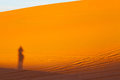Sunshine in the morocco sand and dune Royalty Free Stock Photos