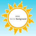 Sunshine round background vector for your own design Stock Photos