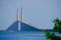 Sunshine Skyway Bridge over Tampa Bay Florida Royalty Free Stock Photo