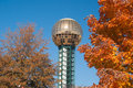 Sunsphere in fall season Royalty Free Stock Photo
