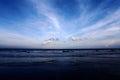 Sunst at kijal sunset beach trengganu malaysia blue sky cloud Stock Photography