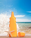 Suntan Lotion Splash Royalty Free Stock Photography