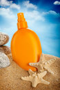 Suntan oil Royalty Free Stock Photos