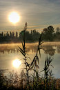 Sunup on the lake Royalty Free Stock Photo