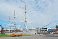 Suomen joutsen full rigged ship turku finland june historic is displayed on the forum marinum embankment on june in turku finland Royalty Free Stock Photography