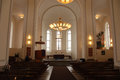 Suomenlinna church inside of the modern near helsinki finland Royalty Free Stock Photography