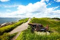 Suomenlinna fortress in helsinki finland scenic summer panorama of one of the famous landmarks Royalty Free Stock Photography