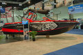 Super air nautique boat on display los angeles california usa february at the progressive los angeles show in l a convention Royalty Free Stock Image