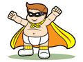 Super baby a vector cartoon of a isolation in white Stock Photography