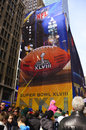 Super bowl boulevard football fans gathered on broadway during the event in new york on january Royalty Free Stock Photo