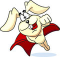 Super bunny flies in the vector Stock Images