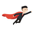 Super Businessman flies up. Business concept illustration. Royalty Free Stock Photo