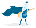 Super cleaning product hero with cape Royalty Free Stock Photo