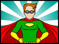 Super confidence a cartoon illustration of a superhero Royalty Free Stock Photography