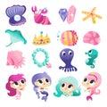 Super Cute Mermaids Sea Creatures Set