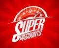 Super discounts sale design with speedometer
