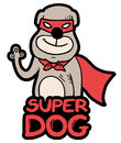 Super dog creative design of Stock Photography
