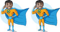 Super duper help desk hero tech support two versions Royalty Free Stock Photo